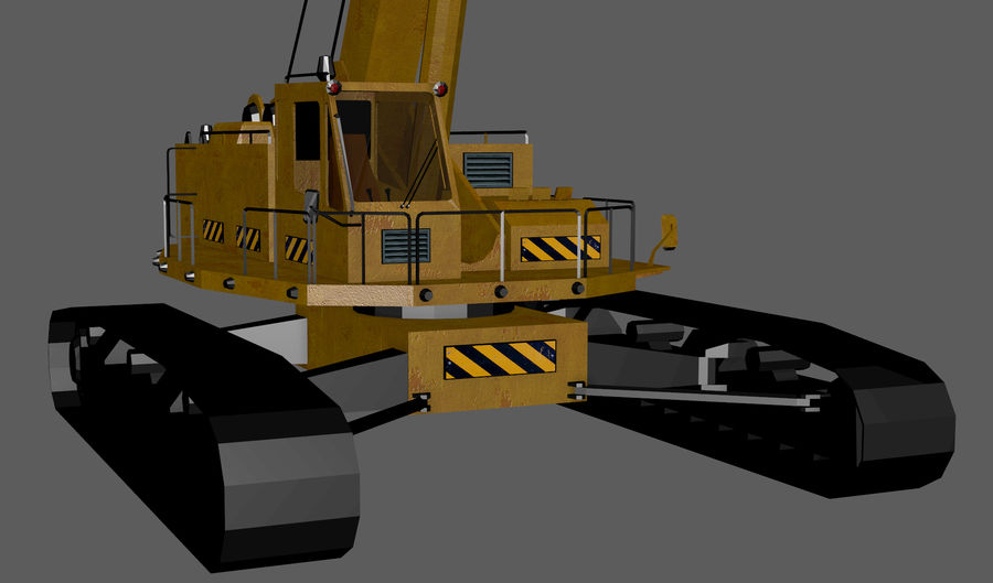 Industrial Crane royalty-free 3d model - Preview no. 7