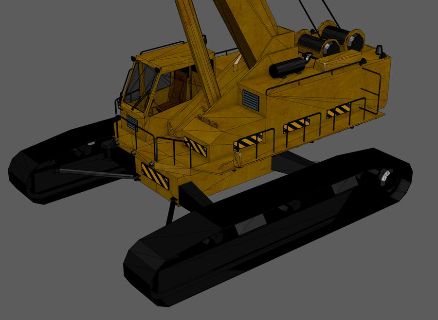Industrial Crane royalty-free 3d model - Preview no. 12
