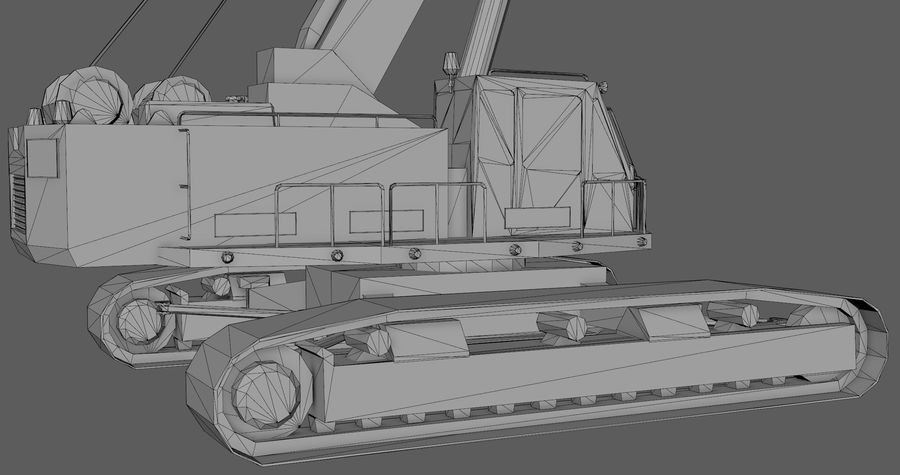 Industrial Crane royalty-free 3d model - Preview no. 10