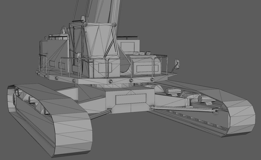 Industrial Crane royalty-free 3d model - Preview no. 8