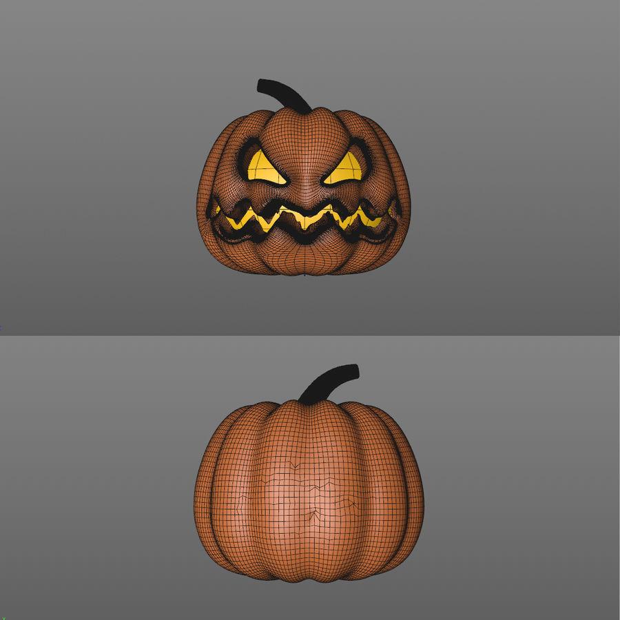 Cartoon Pumpkin royalty-free 3d model - Preview no. 3