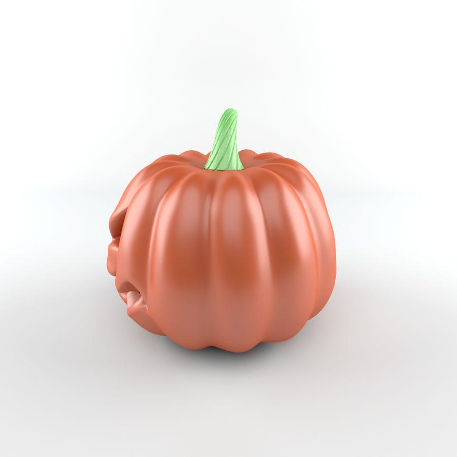 Cartoon Pumpkin royalty-free 3d model - Preview no. 2