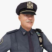 Офицер полиции 3d model