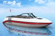 LowPoly t MotorBoat 3d model