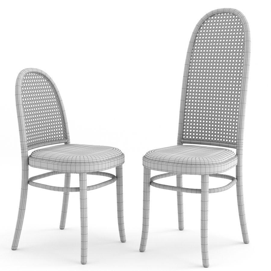 Krzesła Morrisa Thoneta Vienna royalty-free 3d model - Preview no. 6