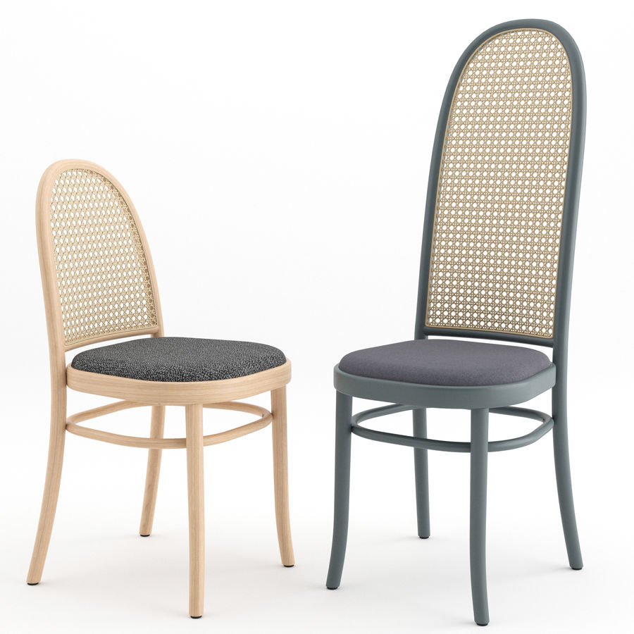 Krzesła Morrisa Thoneta Vienna royalty-free 3d model - Preview no. 2
