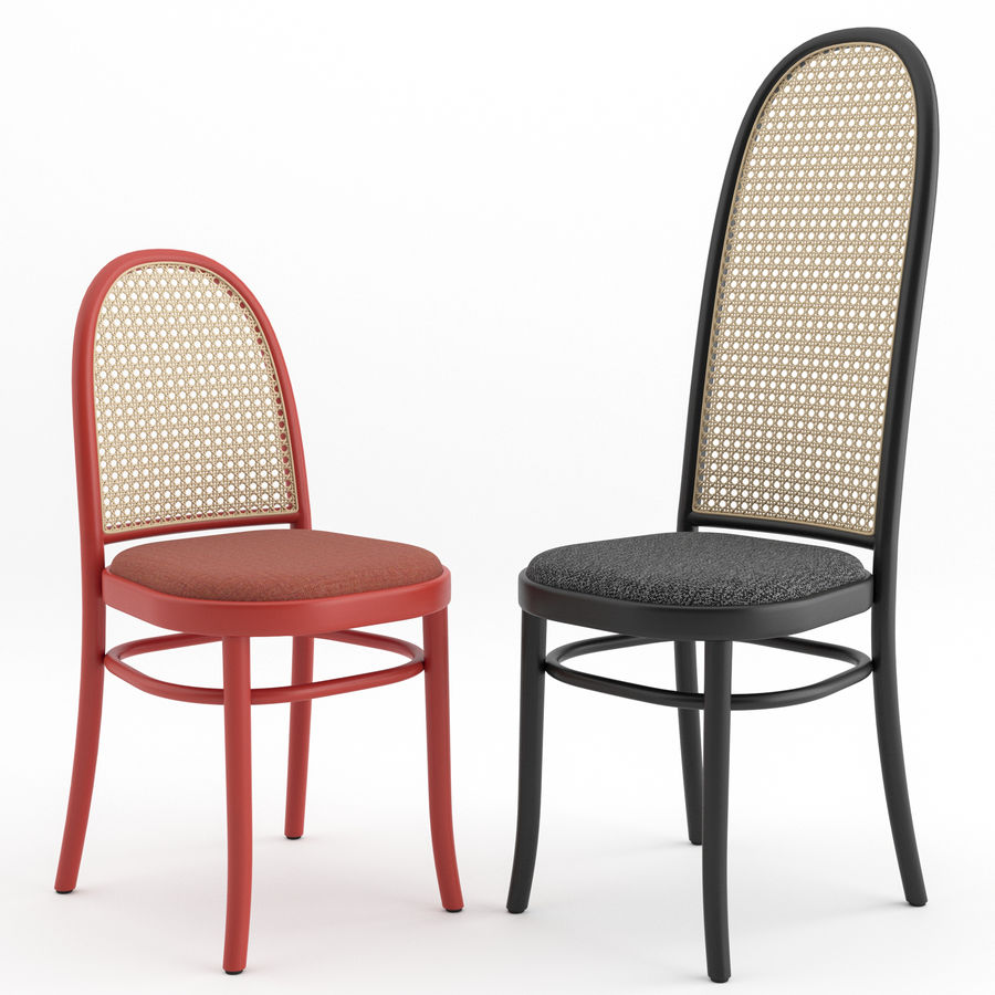 Krzesła Morrisa Thoneta Vienna royalty-free 3d model - Preview no. 1