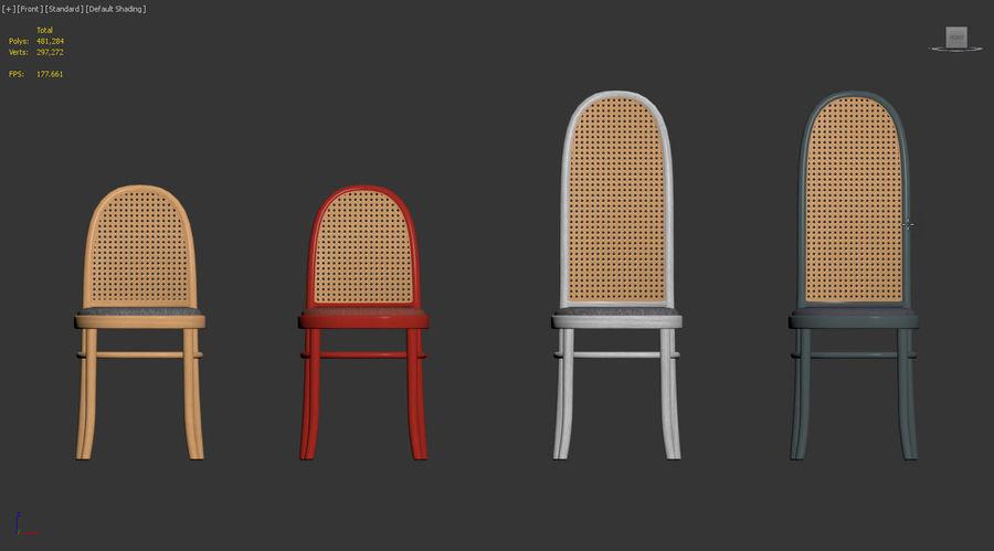 Krzesła Morrisa Thoneta Vienna royalty-free 3d model - Preview no. 7