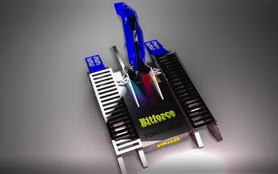 Битовый Боевой Робот royalty-free 3d model - Preview no. 10