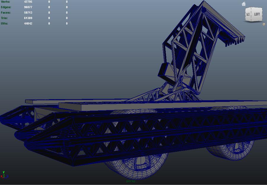 Битовый Боевой Робот royalty-free 3d model - Preview no. 14