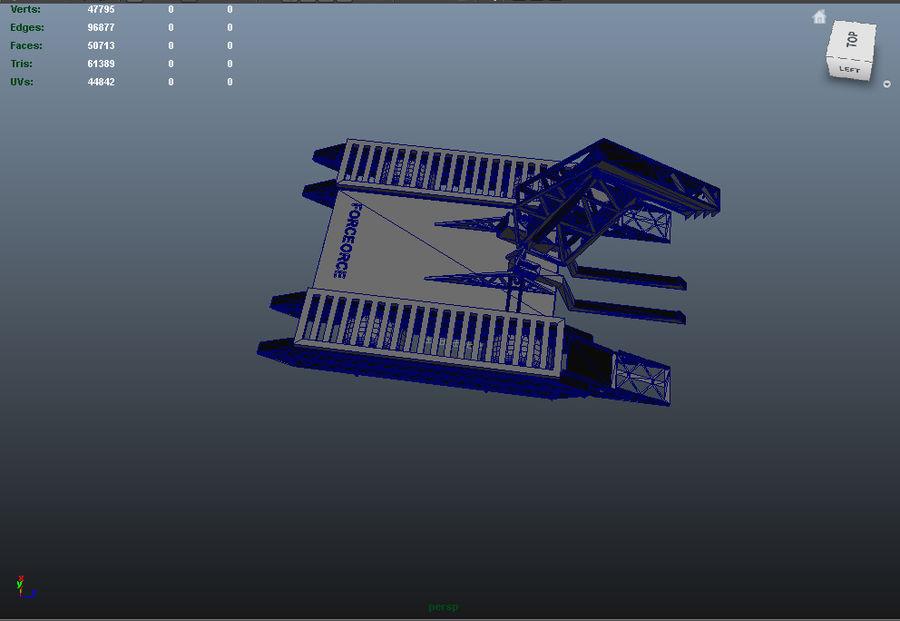 Битовый Боевой Робот royalty-free 3d model - Preview no. 9