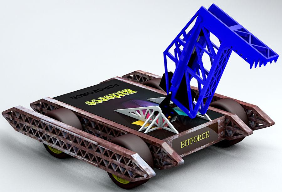 Битовый Боевой Робот royalty-free 3d model - Preview no. 4