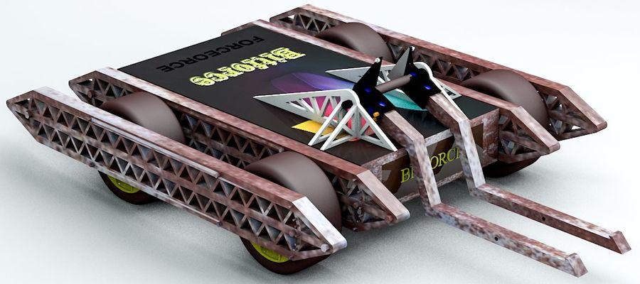 Bit kuvvet savaş robotu royalty-free 3d model - Preview no. 2