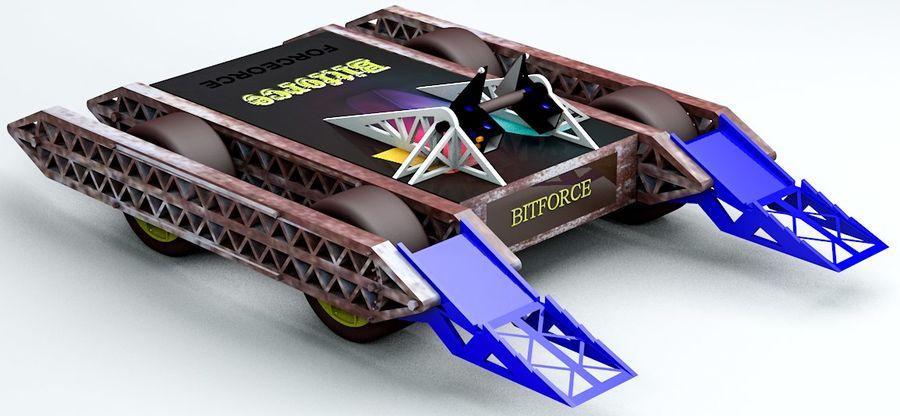 Bit kuvvet savaş robotu royalty-free 3d model - Preview no. 3