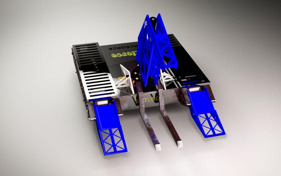 Битовый Боевой Робот royalty-free 3d model - Preview no. 8