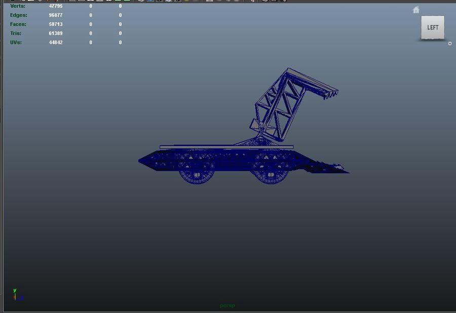 Bit kuvvet savaş robotu royalty-free 3d model - Preview no. 11