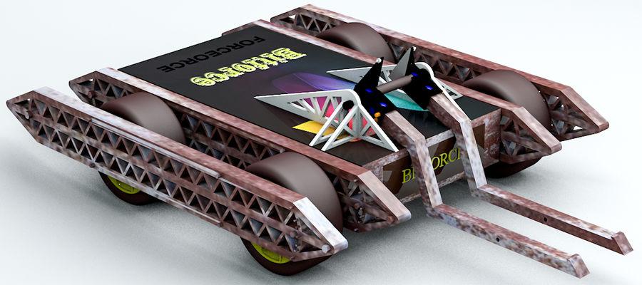 Битовый Боевой Робот royalty-free 3d model - Preview no. 2