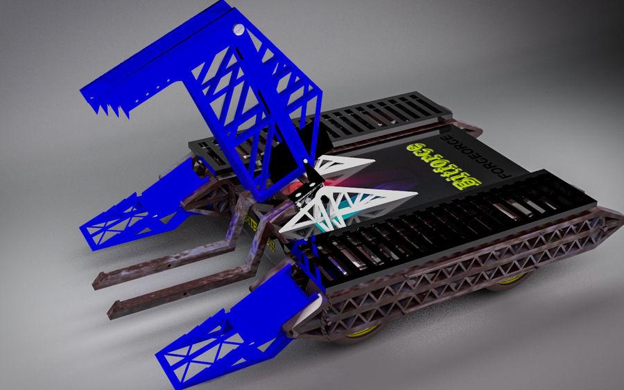 Битовый Боевой Робот royalty-free 3d model - Preview no. 6