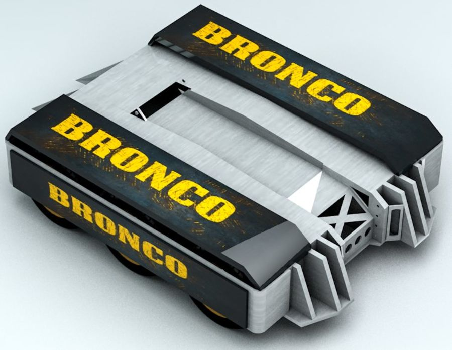 Bronco Fighting Robot royalty-free 3d model - Preview no. 4