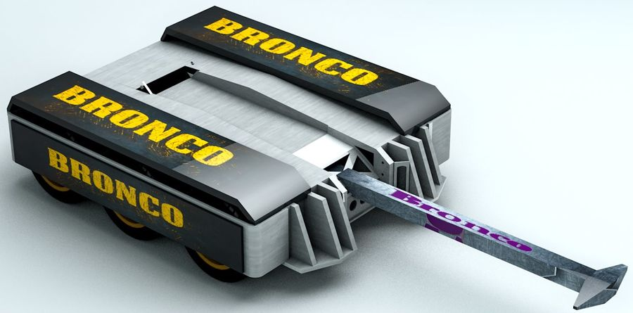 Bronco Fighting Robot royalty-free 3d model - Preview no. 6
