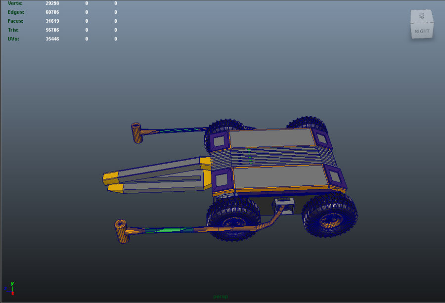 Боевой робот Dissector royalty-free 3d model - Preview no. 15