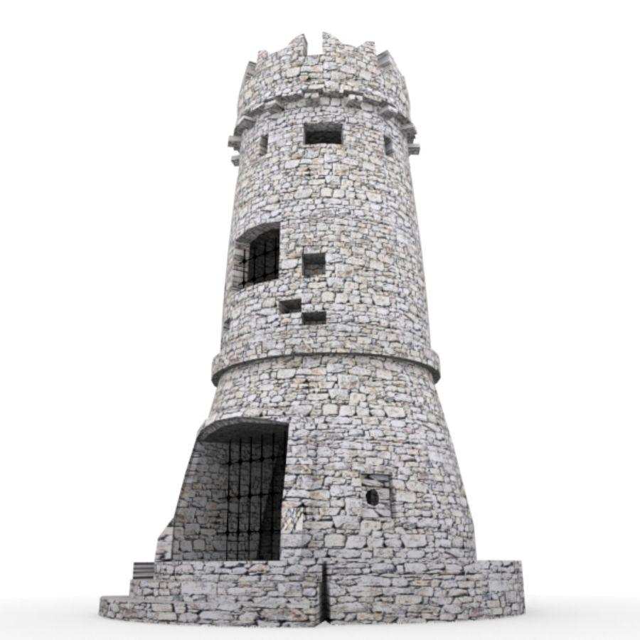 Torre do Castelo royalty-free 3d model - Preview no. 3