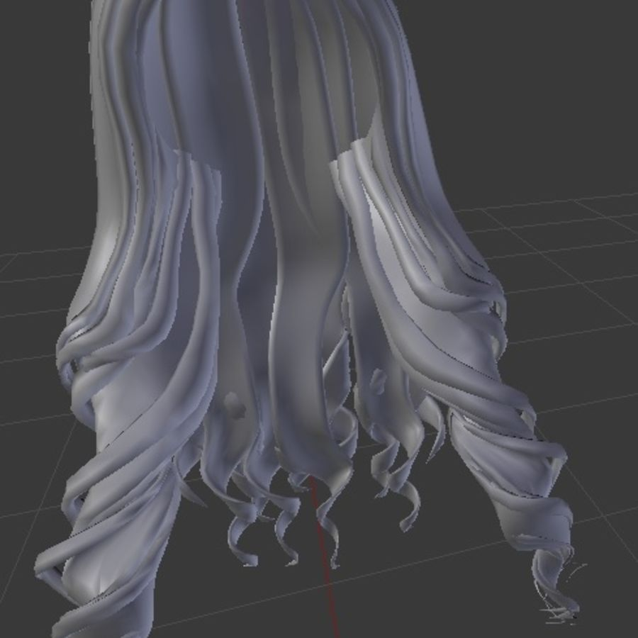 Prisma 3d low poly game ready mesh hair rigged royalty-free 3d model - Preview no. 2