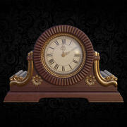 Table clock in classical style 3d model