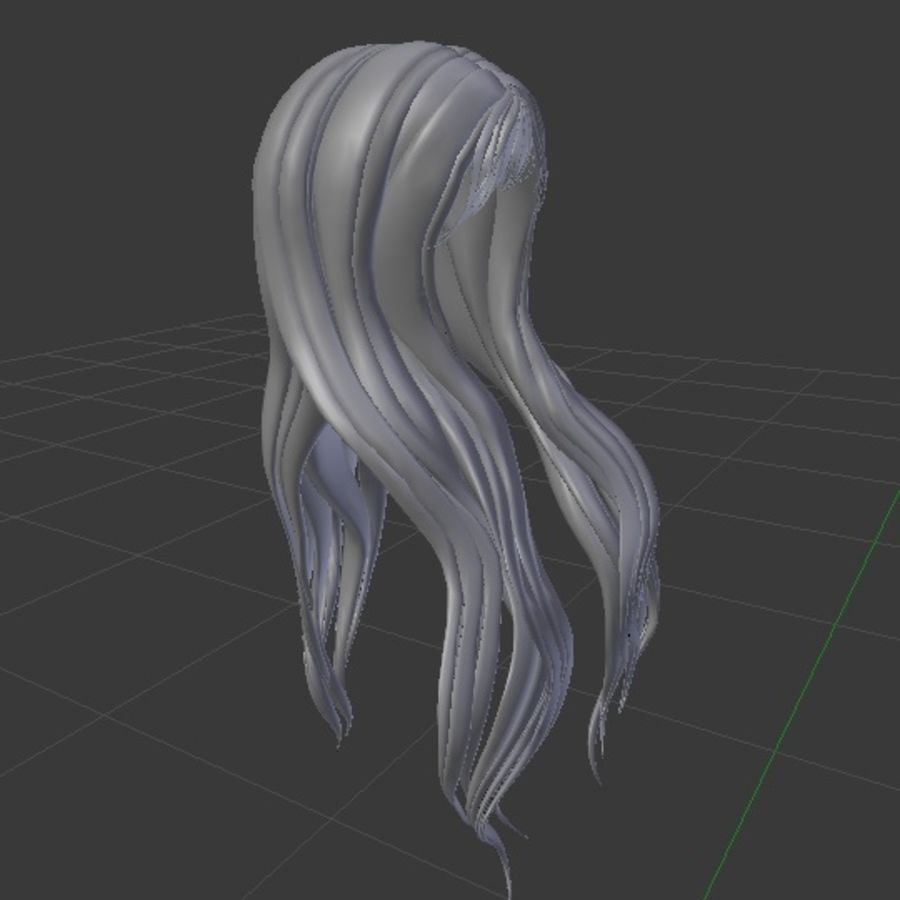 Symphony 3d low poly game ready mesh hair rigged royalty-free 3d model - Preview no. 3