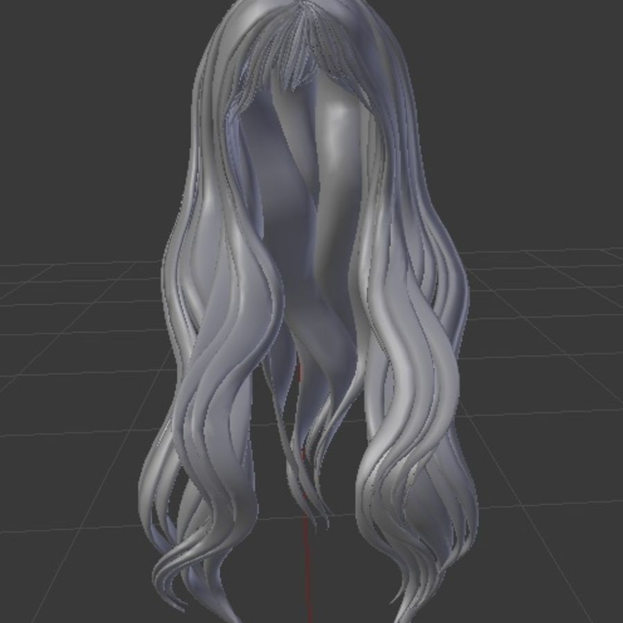 Symphony 3d low poly game ready mesh hair rigged royalty-free 3d model - Preview no. 2