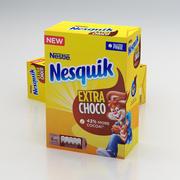 Nestle Nesquik Extra Choco Box 400g 2019 3d model