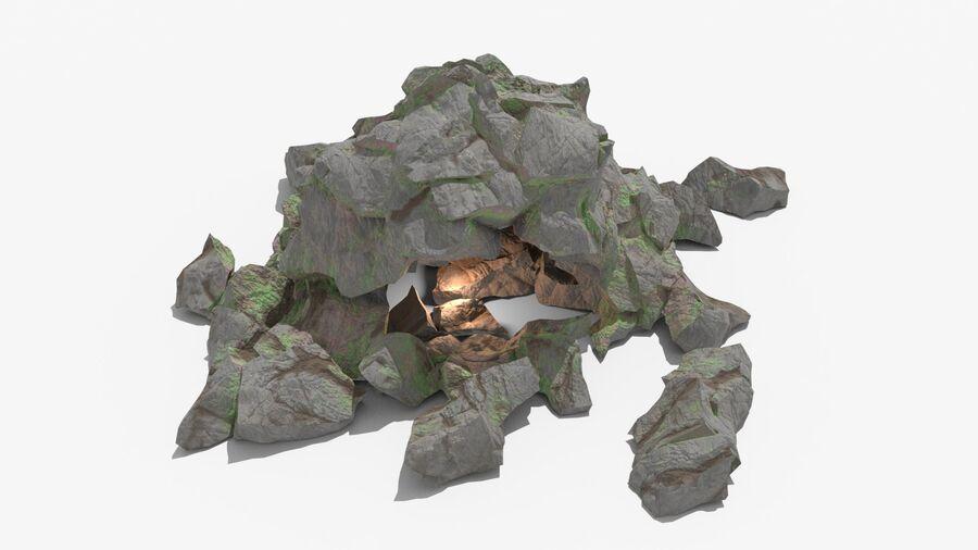 Liten grotta royalty-free 3d model - Preview no. 2