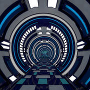 Wnętrze korytarza science fiction 3d model