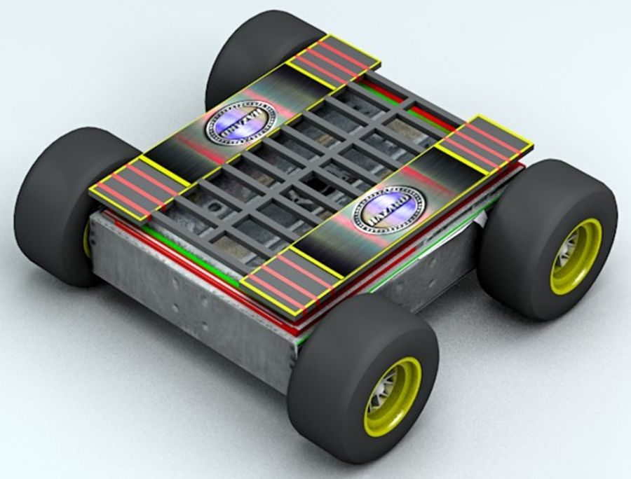 Tehlike Mücadele Robotu royalty-free 3d model - Preview no. 5