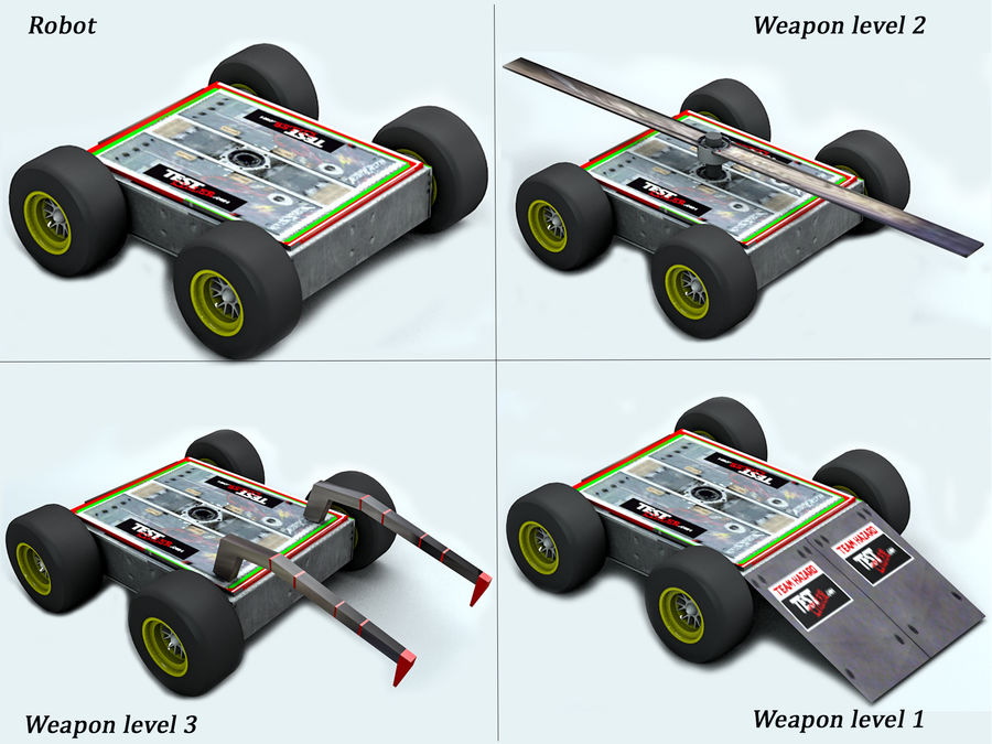 Tehlike Mücadele Robotu royalty-free 3d model - Preview no. 7