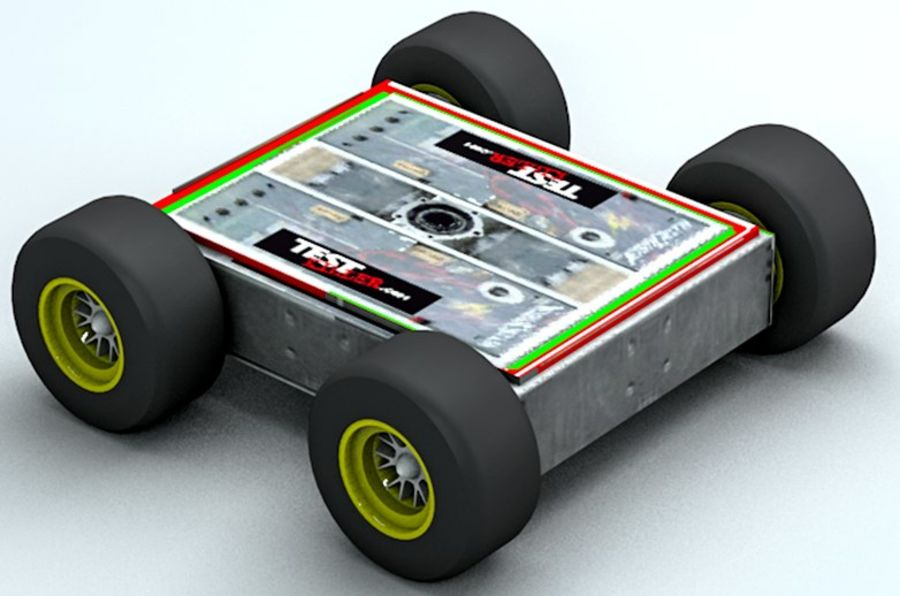 Tehlike Mücadele Robotu royalty-free 3d model - Preview no. 3