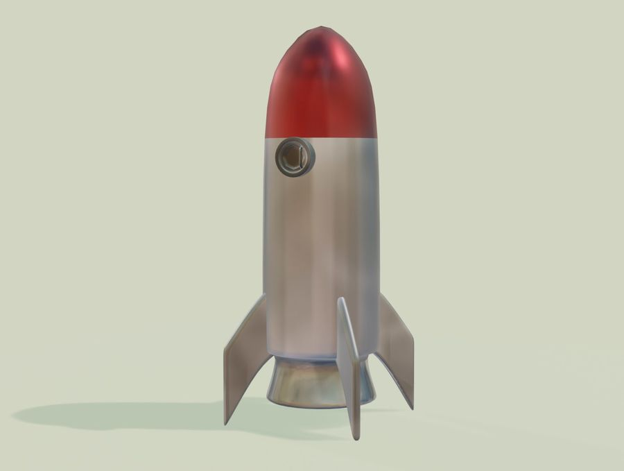 Rocket Space royalty-free 3d model - Preview no. 1
