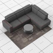 LeComfort Astor L-Sofa & Kailua Tisch SETT 3d model