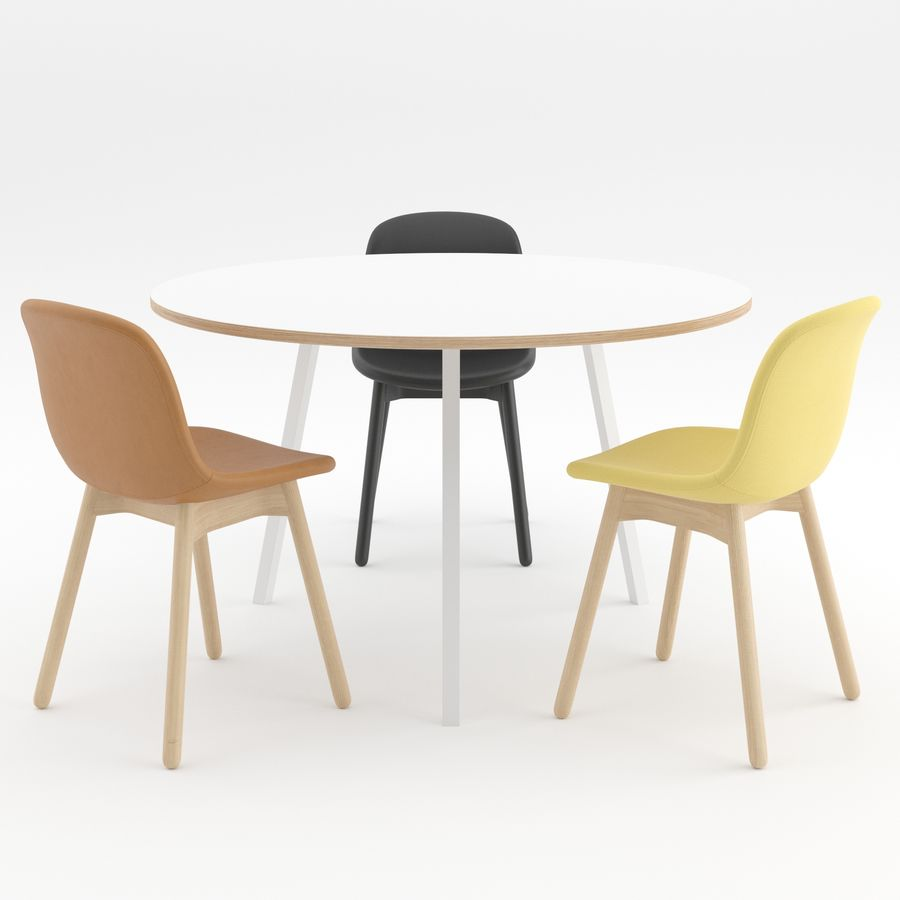 Neu 13 chair + Loop Stand Round by HAY royalty-free 3d model - Preview no. 2