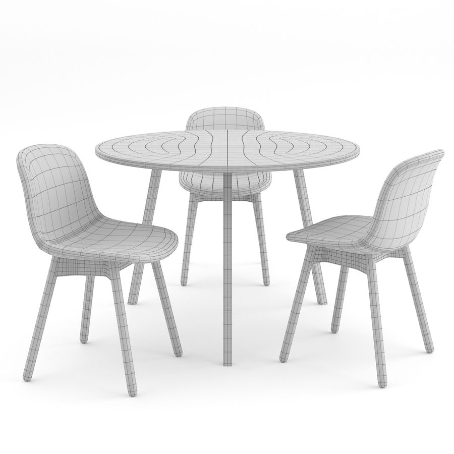 Neu 13 chair + Loop Stand Round by HAY royalty-free 3d model - Preview no. 6
