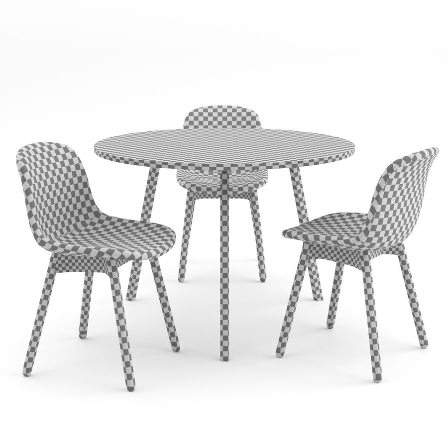 Neu 13 chair + Loop Stand Round by HAY royalty-free 3d model - Preview no. 5