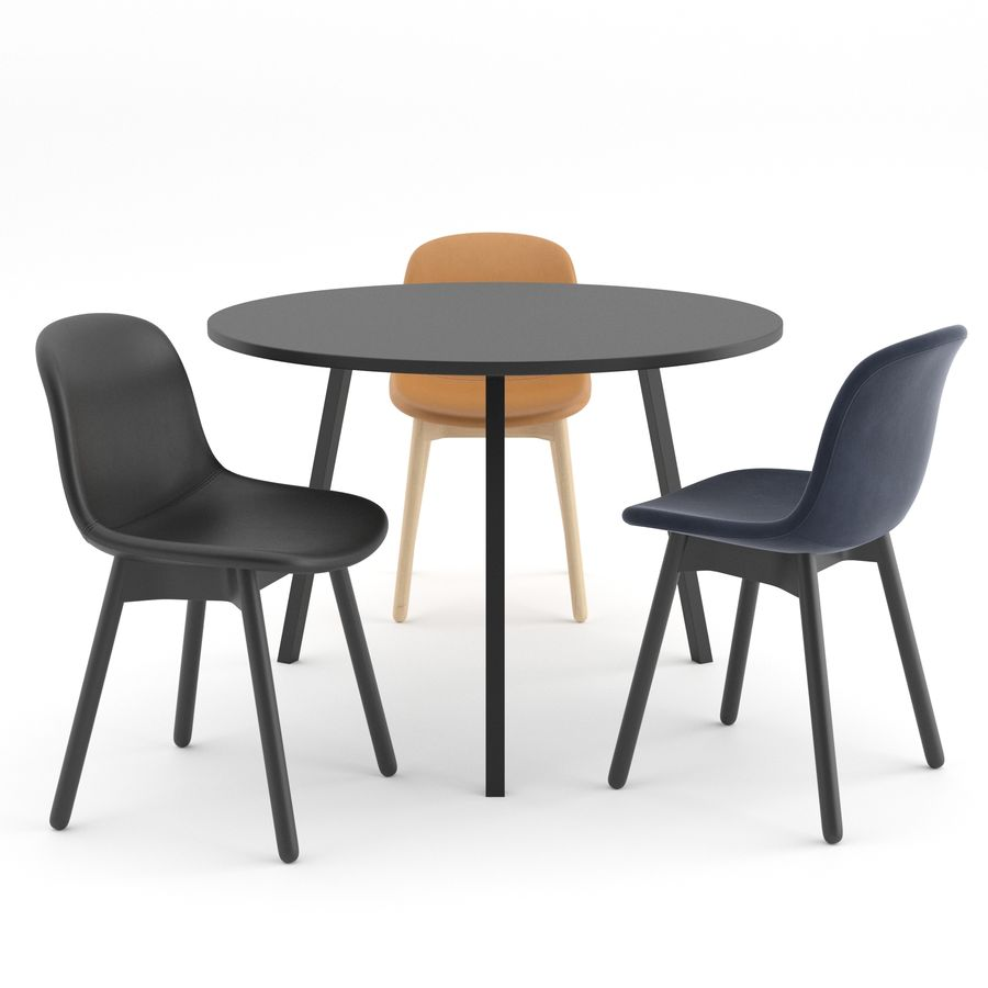 Neu 13 chair + Loop Stand Round by HAY royalty-free 3d model - Preview no. 3