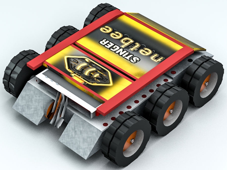 Stinger Fighting Robot royalty-free 3d model - Preview no. 5