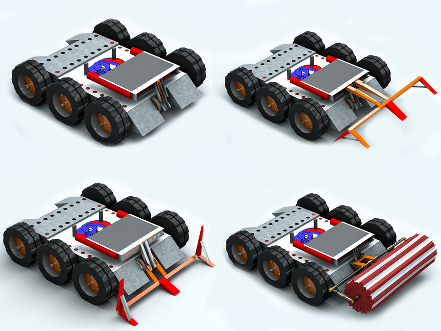 Stinger Fighting Robot royalty-free 3d model - Preview no. 8