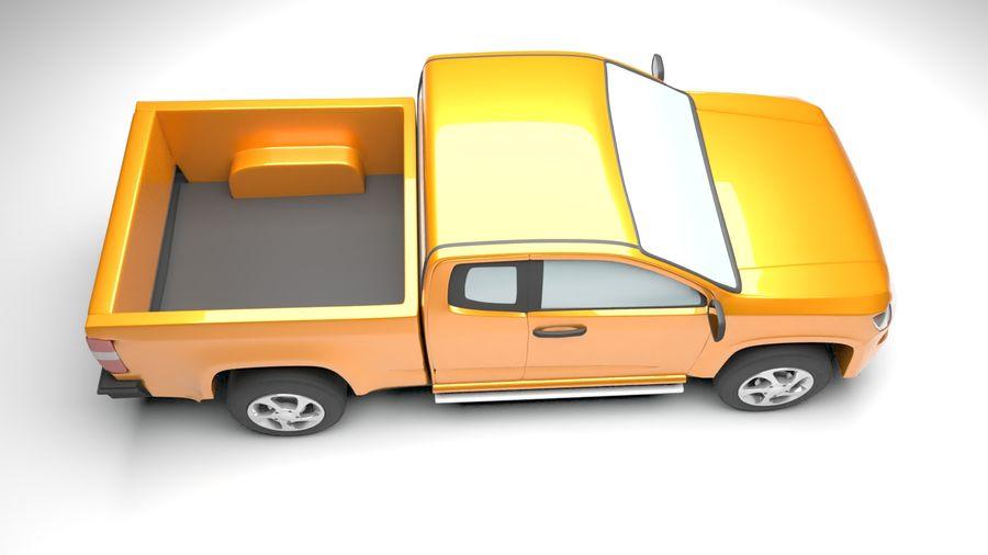 Pickup (no Interior) royalty-free 3d model - Preview no. 6