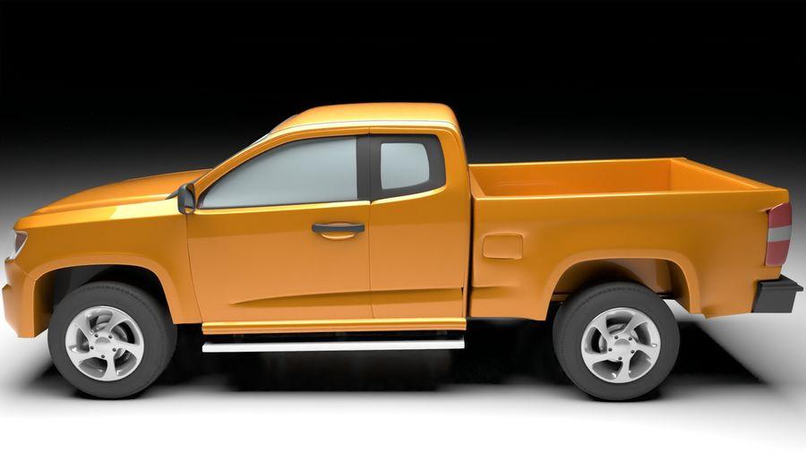 Pickup (no Interior) royalty-free 3d model - Preview no. 2