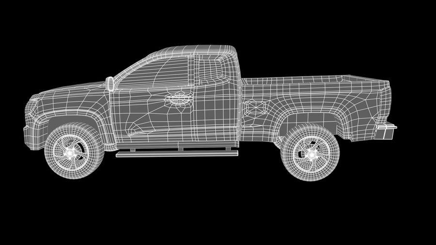 Pickup (no Interior) royalty-free 3d model - Preview no. 10