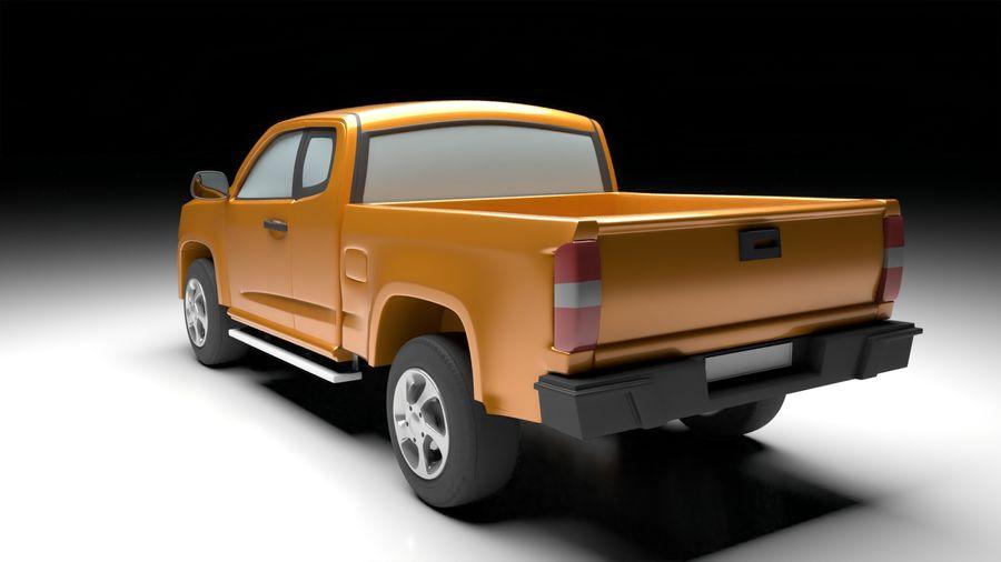 Pickup (no Interior) royalty-free 3d model - Preview no. 3