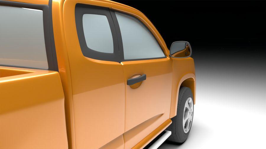 Pickup (no Interior) royalty-free 3d model - Preview no. 7