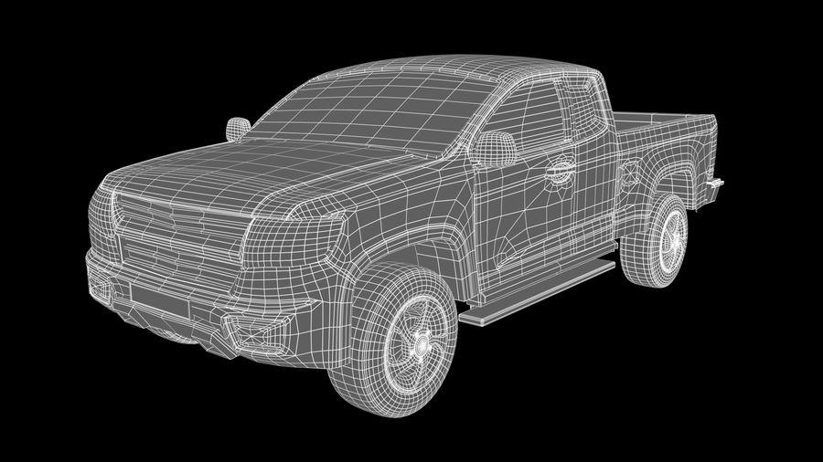 Pickup (no Interior) royalty-free 3d model - Preview no. 9